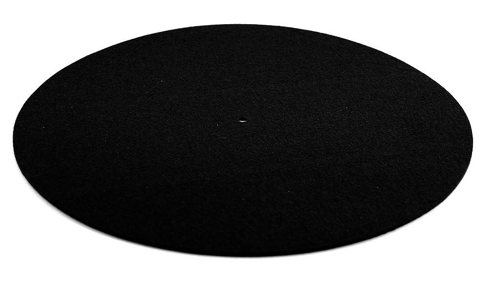 Plattentellerauflage, schwarz