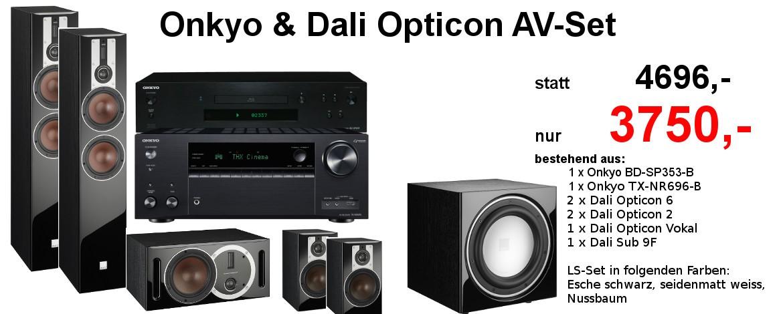 Onkyo & Dali Opticon Heimkino Set